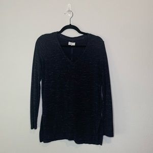Lou & Grey Blue long sleeve womens top size Small